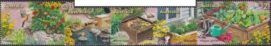 AUS 01/08/2019 Stamp Collecting Month 2019: In the Garden set of 5